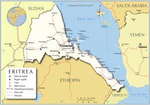 The city of Massawa (Massaua in Italian) in context.